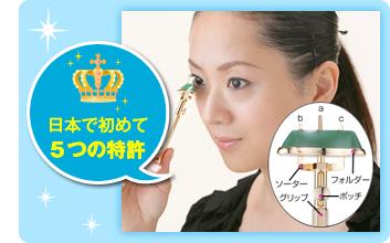 日本で初めて5つの特許,二重矯正,二重メイク,アイプチ